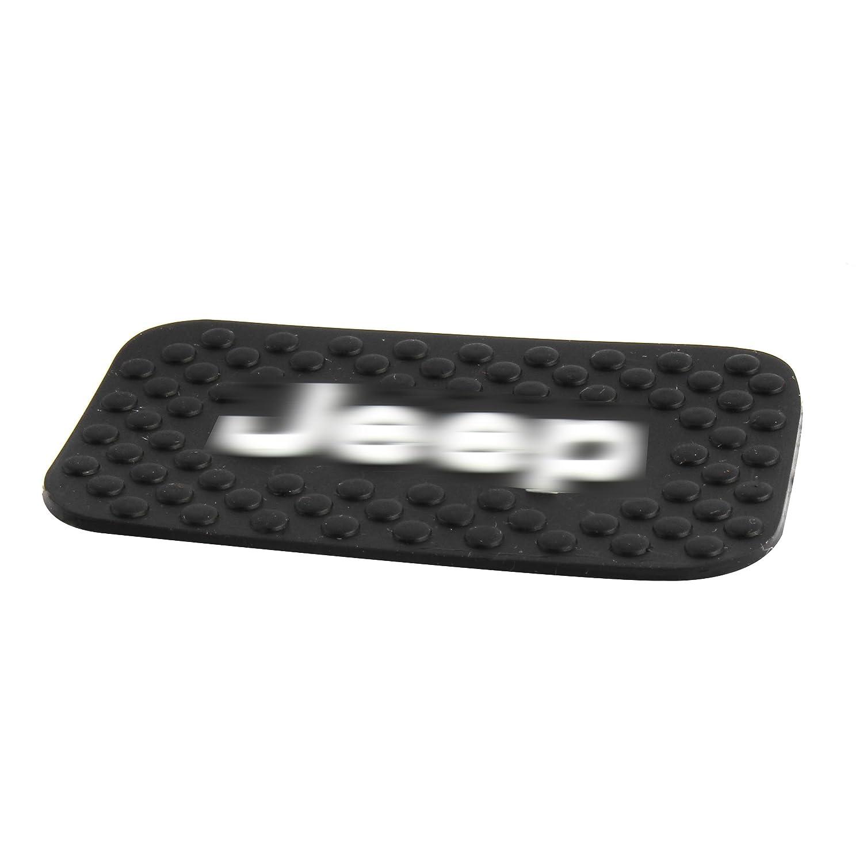 Amooca 4 PCS Fluorescence Door Mats Gate Slot Mat Cup Pads for Jeep Wrangler with Logo