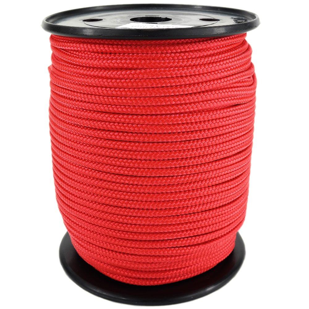 PP Seil Polypropylenseil SH 16mm 250m Farbe Rot (0114) Geflochten