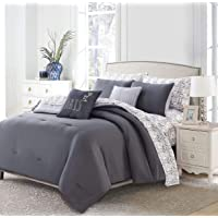 Casual Living 9-Piece Bed in a Bag (King, Charcoal/Paris)