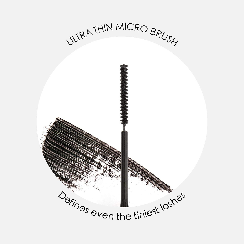 de213b89727 Amazon.com : Mirenesse Cosmetics Lash Whip Secret Weapon 24hr Tightline  Mascara with Micro Brush - Black. Unique brush tightlines even short,  sparse, ...