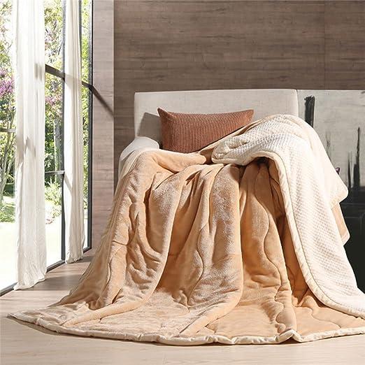 Franela con manta edredones para adultos manta cálido ...