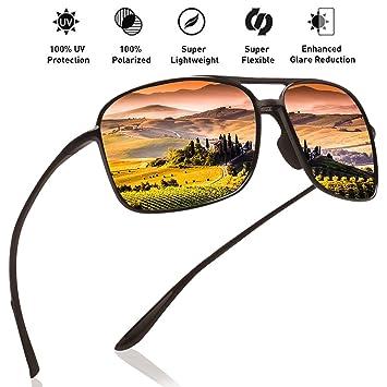 2109cd66f39 Juli Polarized Pilot Sports Sunglasses for Men Women Tr90 Unbreakable Frame  for Running Fishing Baseball Driving  Amazon.ca  Sports   Outdoors