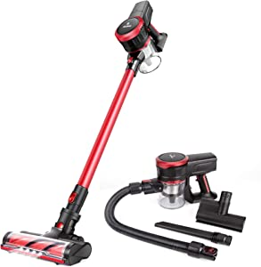 MOOSOO Cordless Vacuum Cleaner 23Kpa Strong Suction 2 in 1 Stick Vacuum Ultra-Quiet Handheld Vacuum with Brushless Motor Multi-attachments