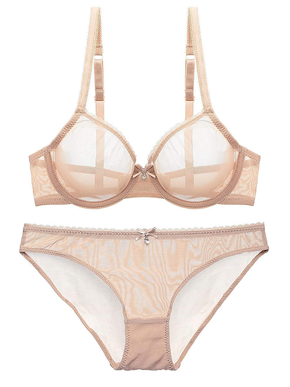 Amazon.com: Women Transparent Bras Sets Summer Erotic Push Up Bra Lingeries  Crop Tops Sexy Exotic Underwear Clothing: Clothing