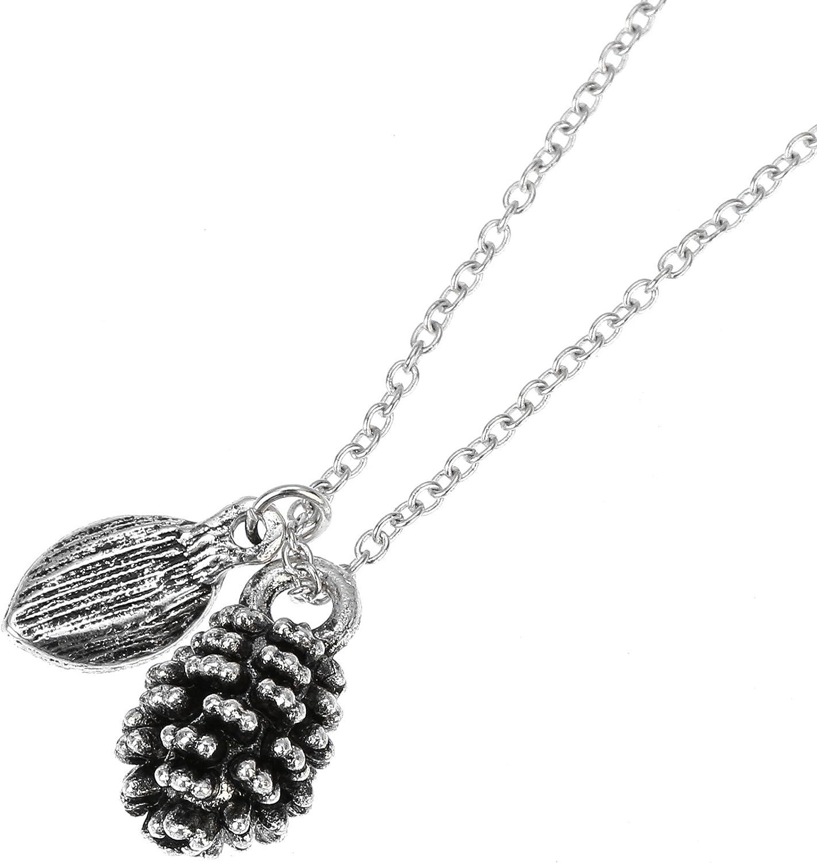 Elegant Pine Nut Plant Specimen Pendant Necklace Girls Fashion Jewelry Gift Hot