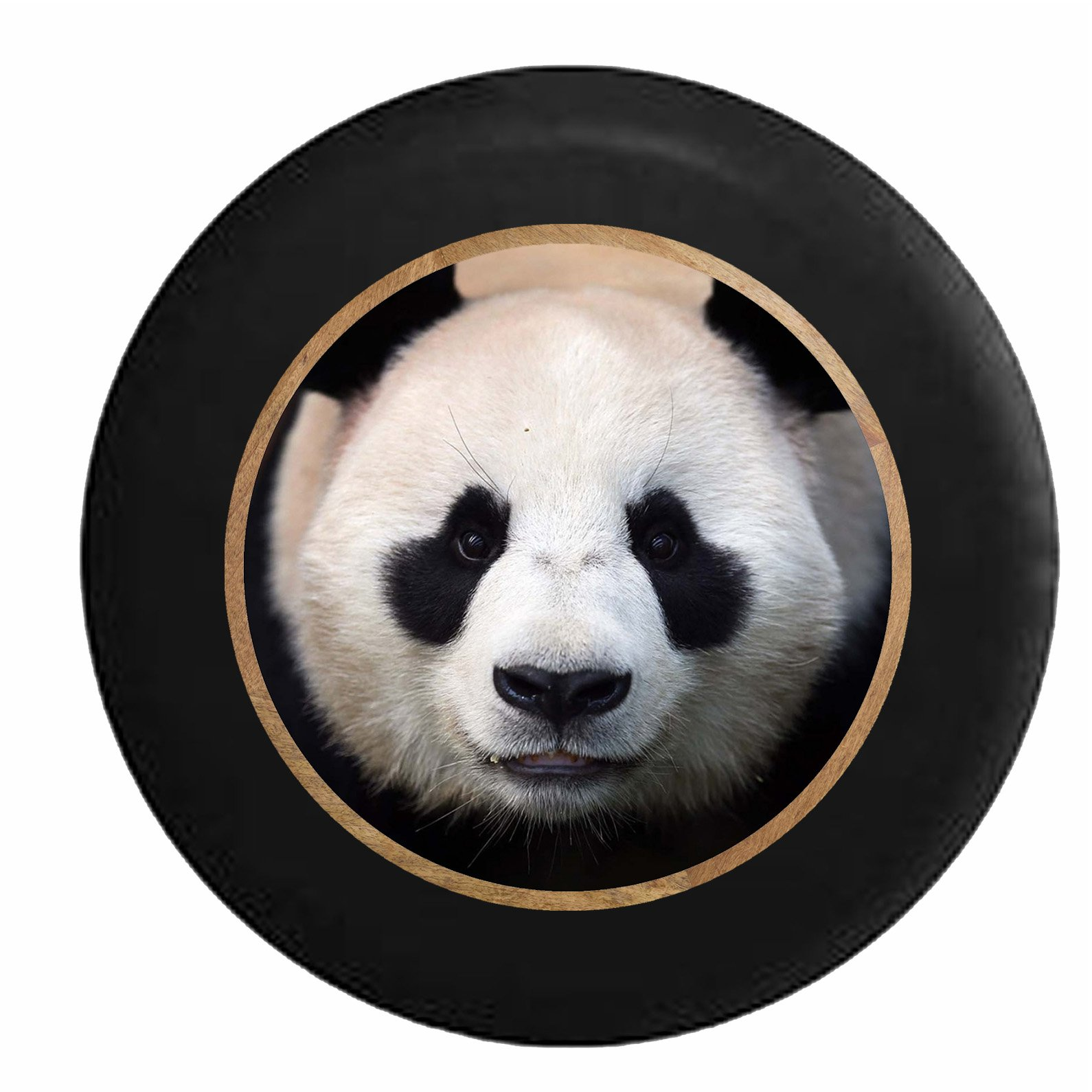 Pike Outdoors Full Color Cute Panda Staring Back at You Spare Tire Cover fits SUV Camper RV Accessories Black 35 in by Pike Outdoors