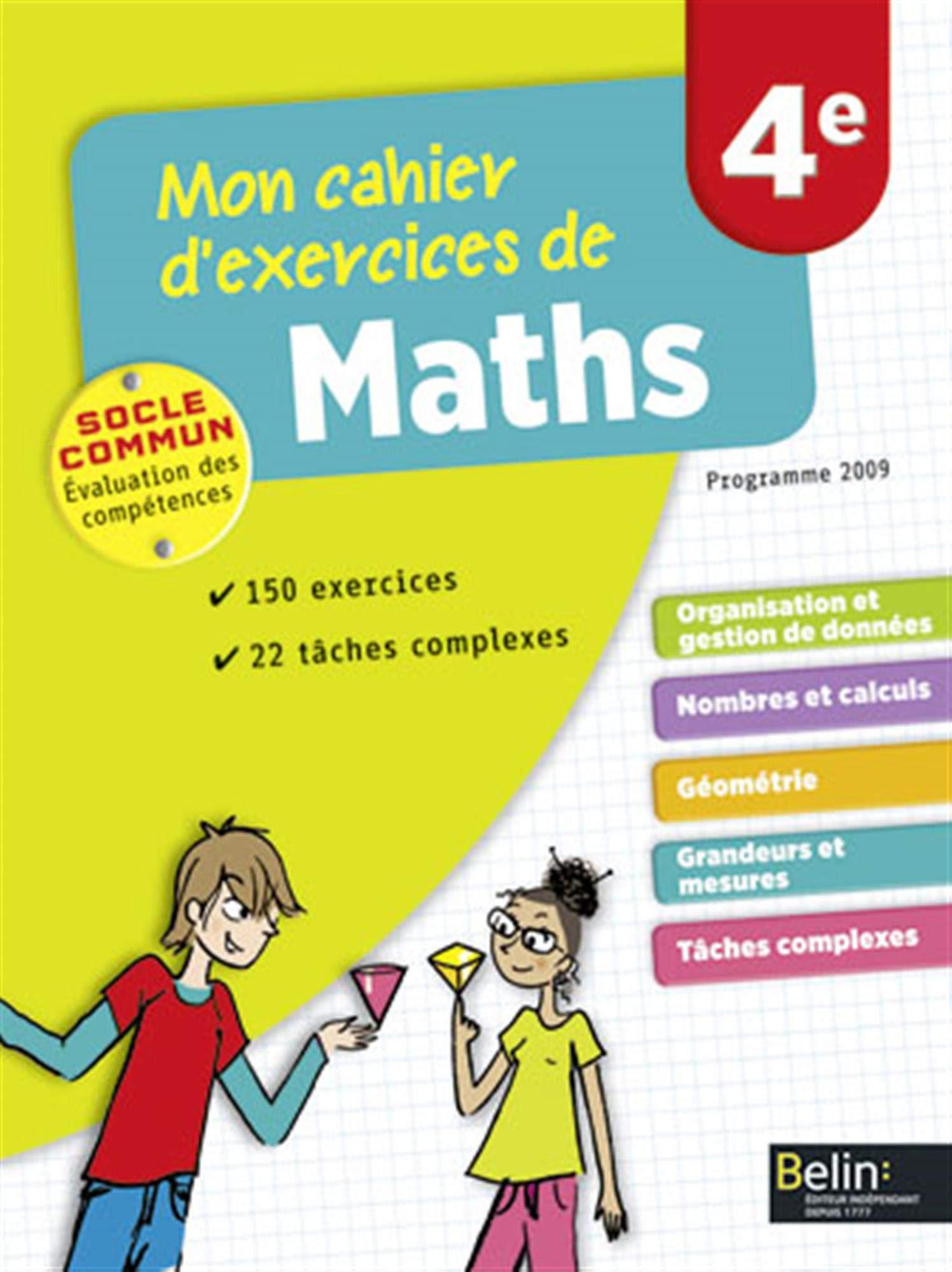Amazon Fr Mon Cahier D Exercices De Maths 4e Jacob Nadine Collectif Livres