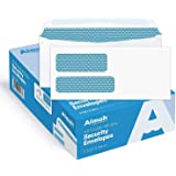 #9 Double Window Security Business Mailing Envelopes for Invoices, Statements and Legal Documents - GUMMED Closure, Security