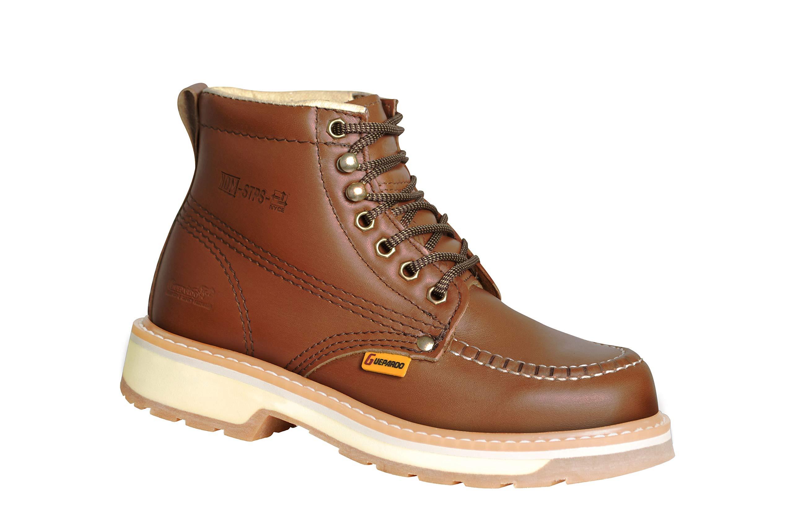 Guepardo Safety Footwear Model GHWM25S/DUAL (Modern Work Boots) (8) Cinnamon