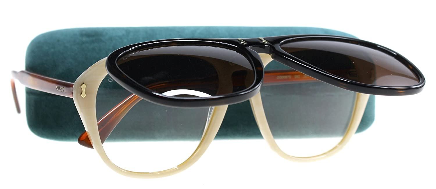 0ac5c00d39 Amazon.com  Gucci GG0087S Sunglasses 002 Havana Ivory   Brown Lens 56mm   Clothing