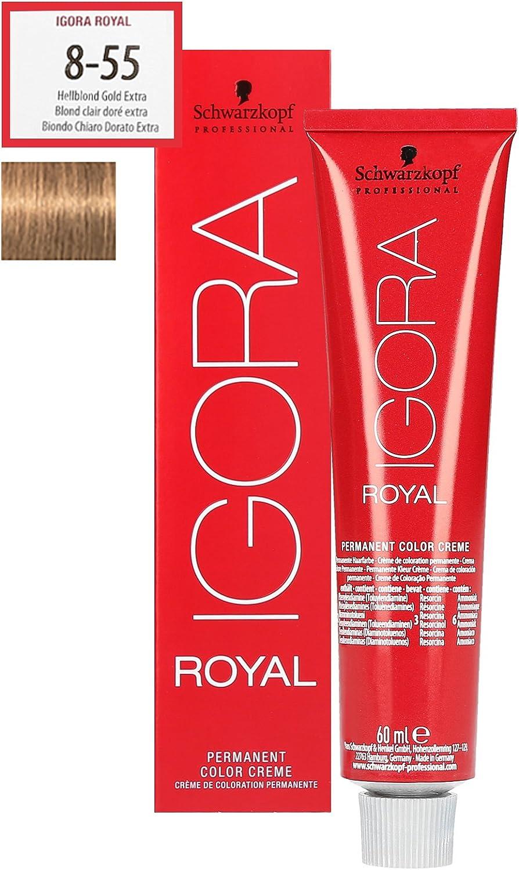 Schwarzkopf Igora Royal 8-55 - Light Blonde Gold Extra Hair Colour / Tint 60ml Tube by Ignora Royal