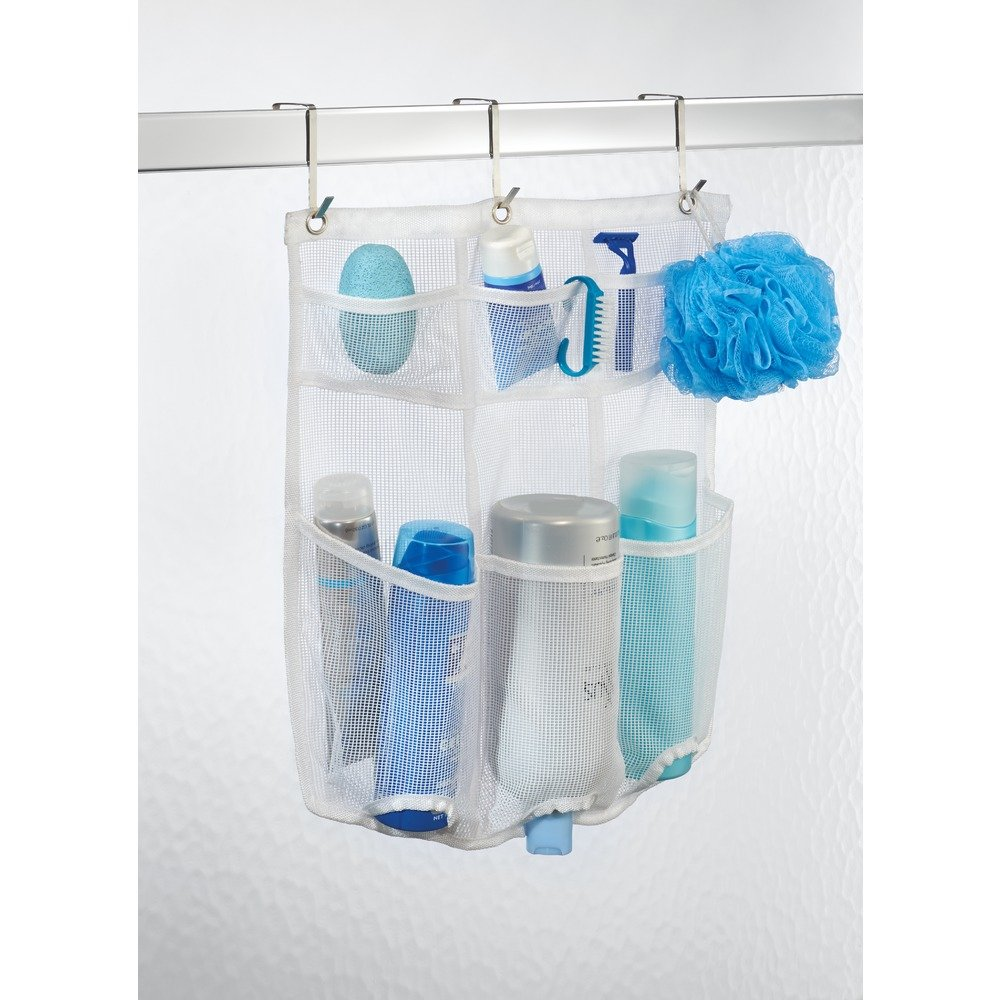 Amazon.com: InterDesign Una Bathroom Over Door Mesh Shower Caddy for ...