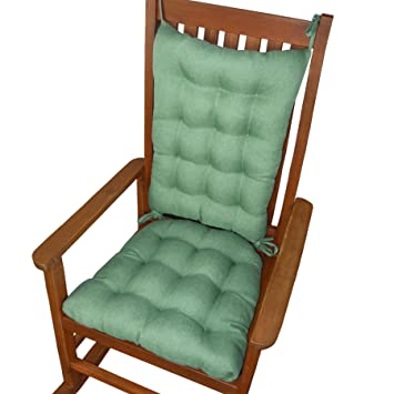 Amazon Com Rocking Chair Cushions Hayden Turquoise Reversible