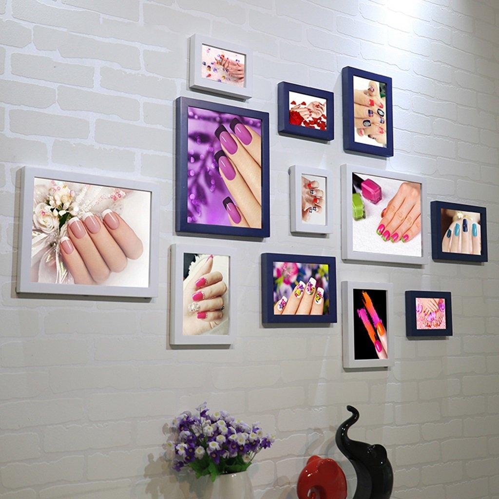 ZGP Home@Wall photo frame Nail Shop Photo Wall Beauty Salon Nail Cosmetics Shop Decorative Painting Frame Wall Wall Combination Paintings (Color : C)