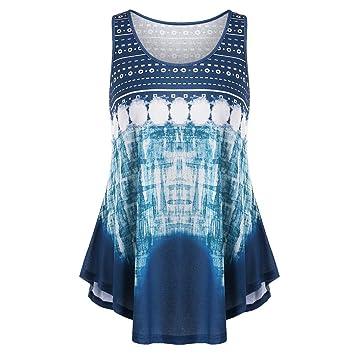 YJYDADA - Camiseta sin mangas para mujer, diseño geométrico ...