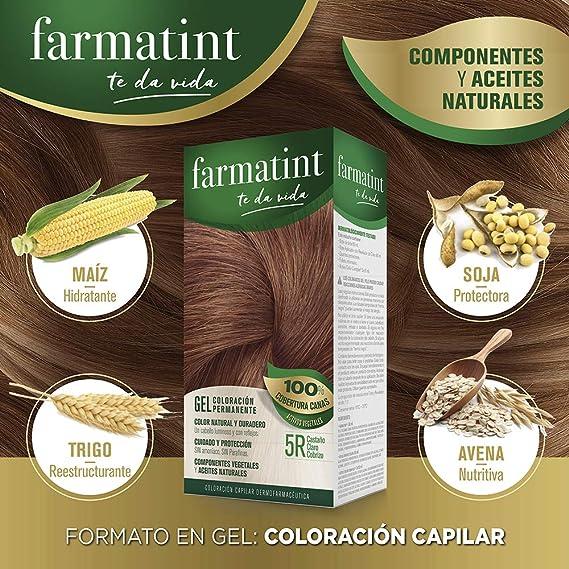 Farmatint 5R Castaño Claro Cobrizo. Tinte permanente. Cabello ...