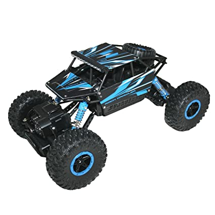 Adraxx 1:18 Scale Remote Control Mini Rock Through Car, Blue