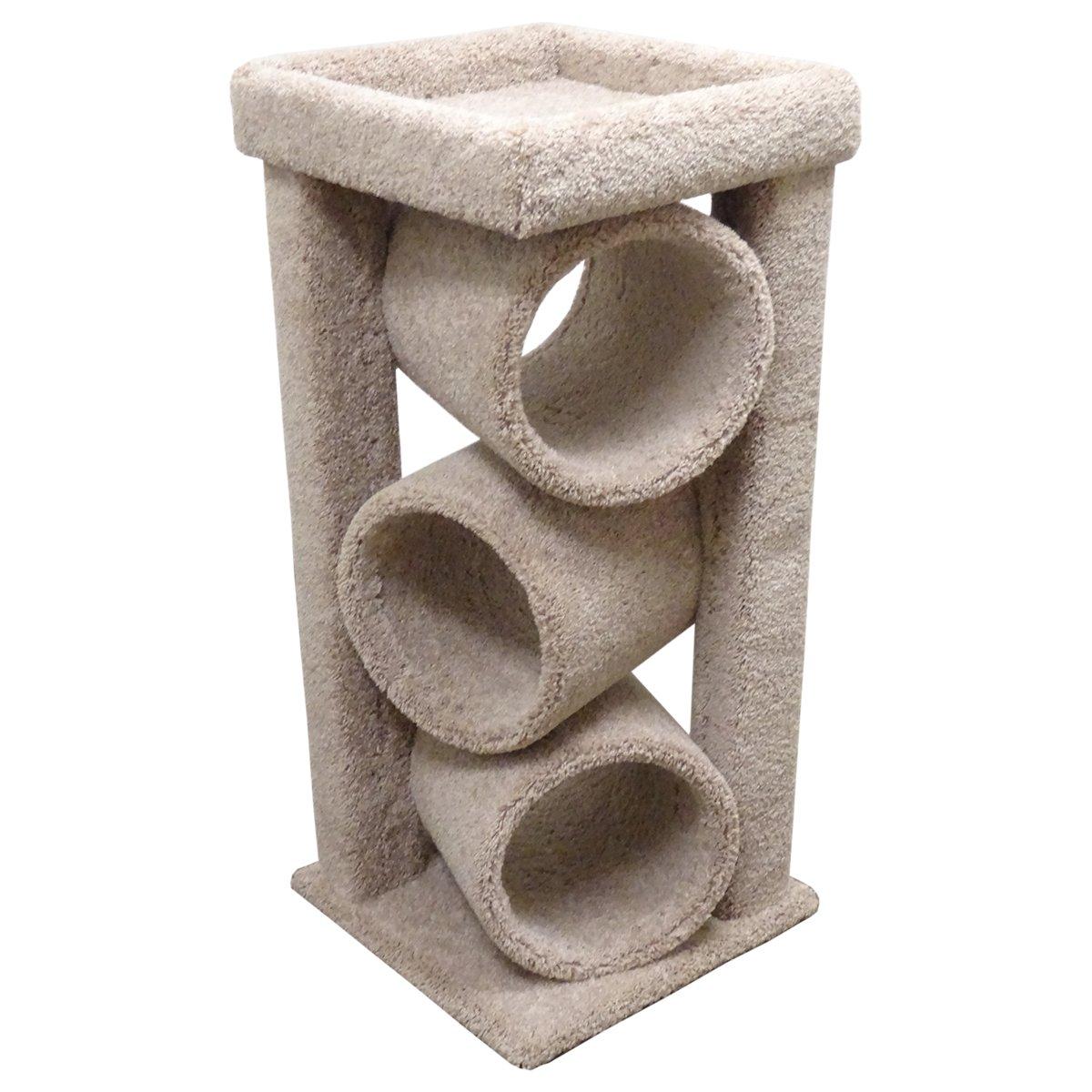 amazoncom new cat condos premier triple cat tunnel beige pet  - amazoncom new cat condos premier triple cat tunnel beige pet supplies
