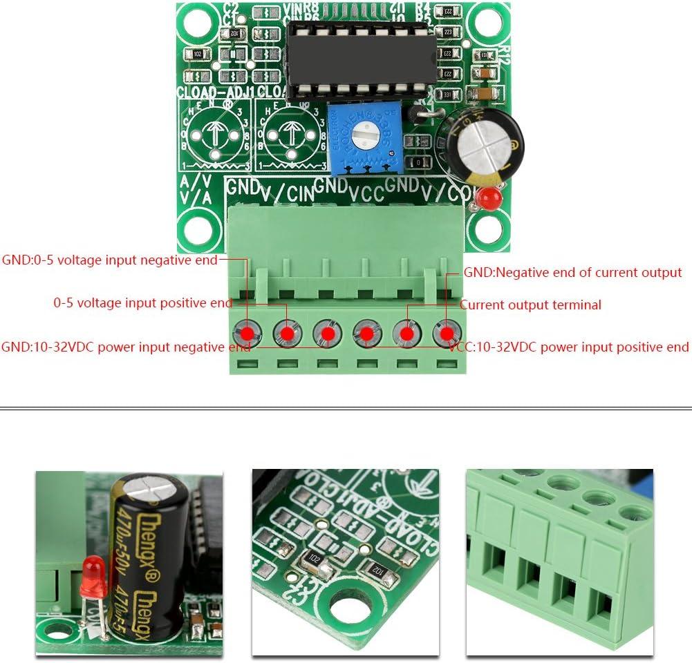 1pc 0-5V to 4-20mA Signal Conversion Module V//I Converter Voltage to Current Board I//V Converter Analog Output Board Wifehelper V//I Converter