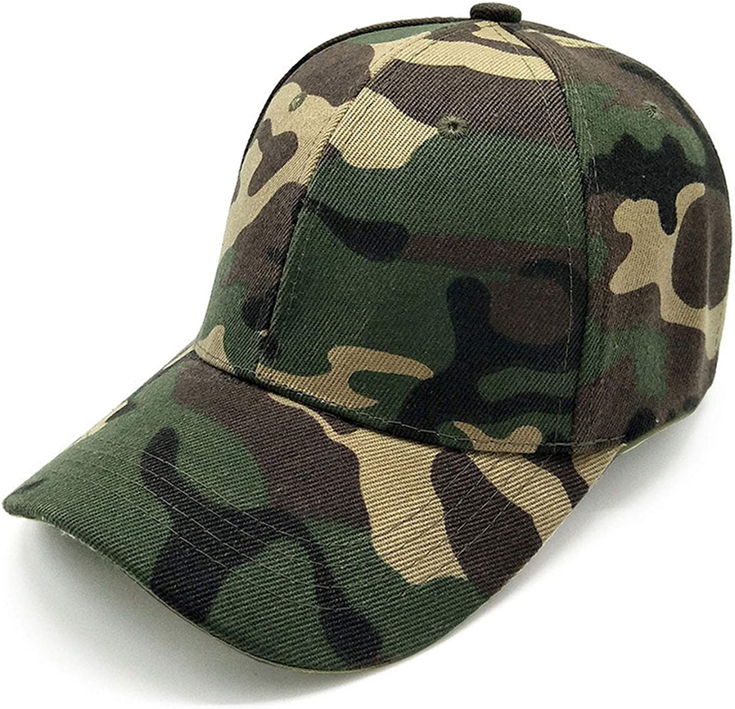 New Cotton Hard Lined Baseball Cap Outdoor Leaf Camouflage Fishing hat Camouflage Sunshade Flat net Cap
