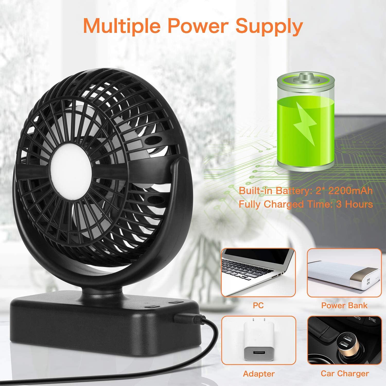 COMLIFE-Ventilateur-de-Camping-avec-Lampe-LED-Ventilateur-Portable-avec miniature 6