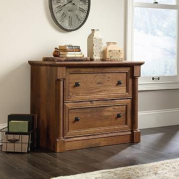 Amazon.com : Sauder Palladia Lateral File in Vintage Oak : Office ...