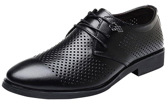 Männer Lace Up Derby Sandalen Business Casual Schuhe Kleid
