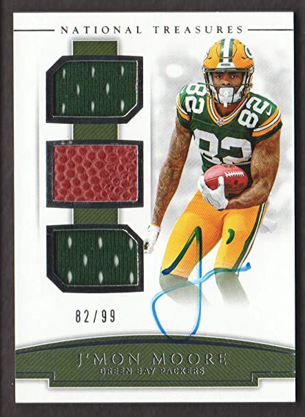 2018 Panini National Treasures Football Rookie NFL Gear Auto Trios