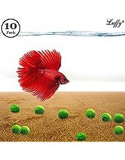 10 Mini Betta Balls - Live Round-Shaped Marimo Plants for Aquarium - Natural Toys for Betta Fish - Perfect for Big and Medium Fish Tanks