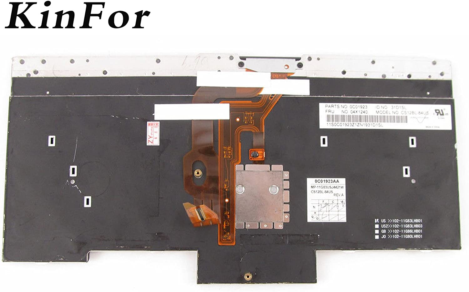 Without Frame Compatible Dell Alienware 15 R3 P//N New US English Black Backlit Keyboard PK131Q71A00 HH53H PK131Q72A00 NSK-ED0BC 01 NSK-ED0BC 1D PK131Q71A01 0XJYDD XJYDD Light Backlight