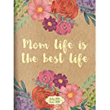 """TF Publishing 19-4105A July 2018 - June 2019 Mom Life Monthly Planner, 7.5 x 10.25"""", Kraft & Floral"""