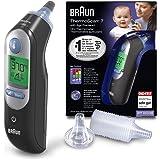 Braun ThermoScan 7 Black Edition - Termómetro de oído con Age Precision, color negro