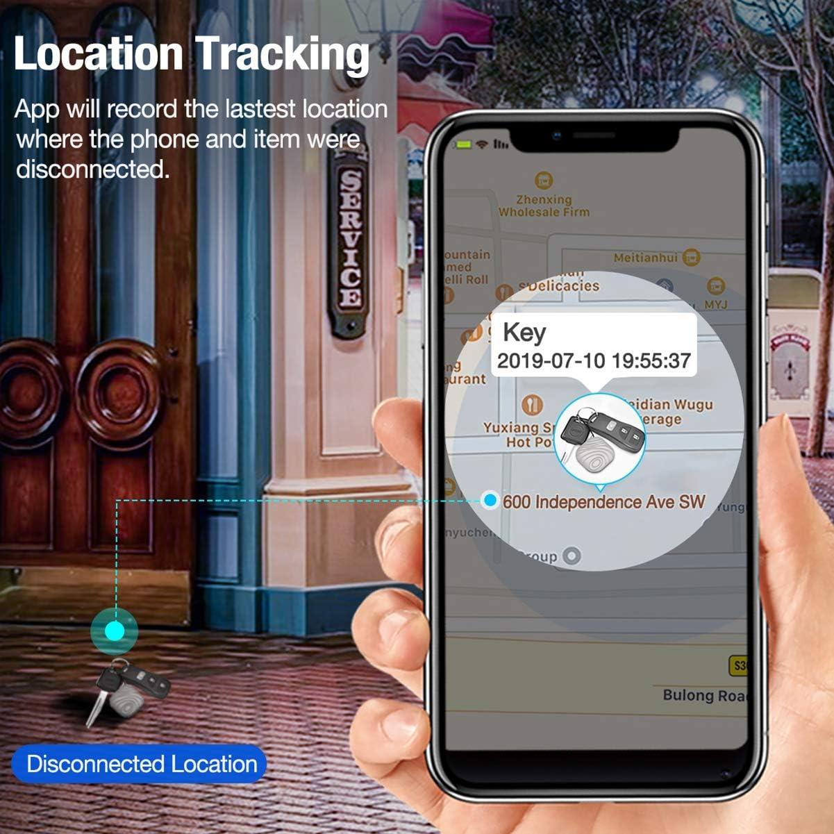 localizador de objetos inal/ámbrico localizador multifuncional de tuerca Buscador de llaves llavero para iOSAndroid funciona con Bluetooth localizador de tel/éfono rastreador de art/ículos cartera