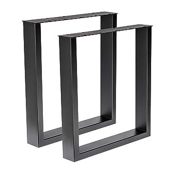 Holzwerk 1 Paar Design Tischgestell Stahl Schwarz Gepulvert Tug 305
