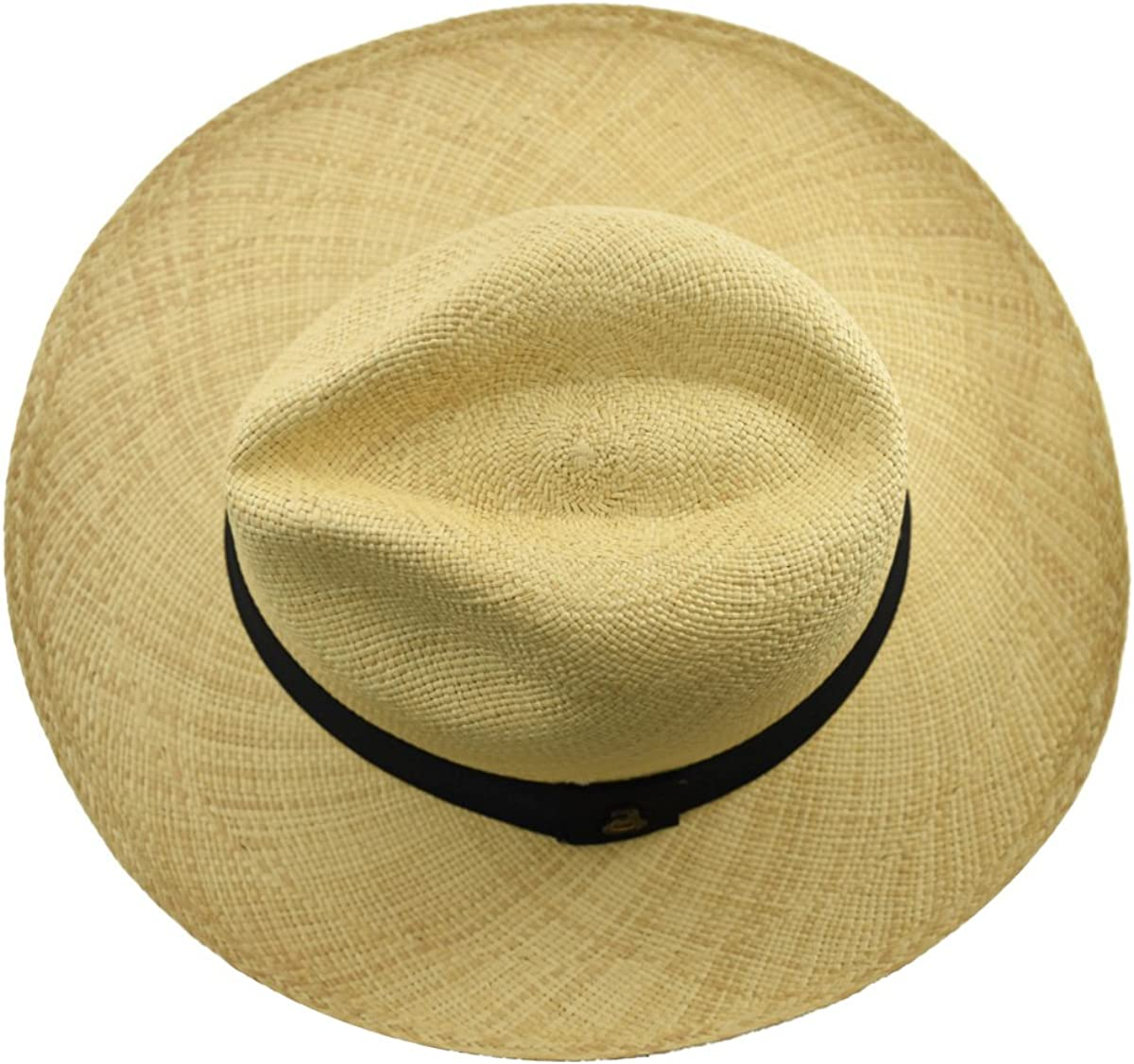 Authentic Cuenca Fedora Natural Color Handwoven Ecuador Genuine Panama Hat Handwoven Toquilla Palm Hat