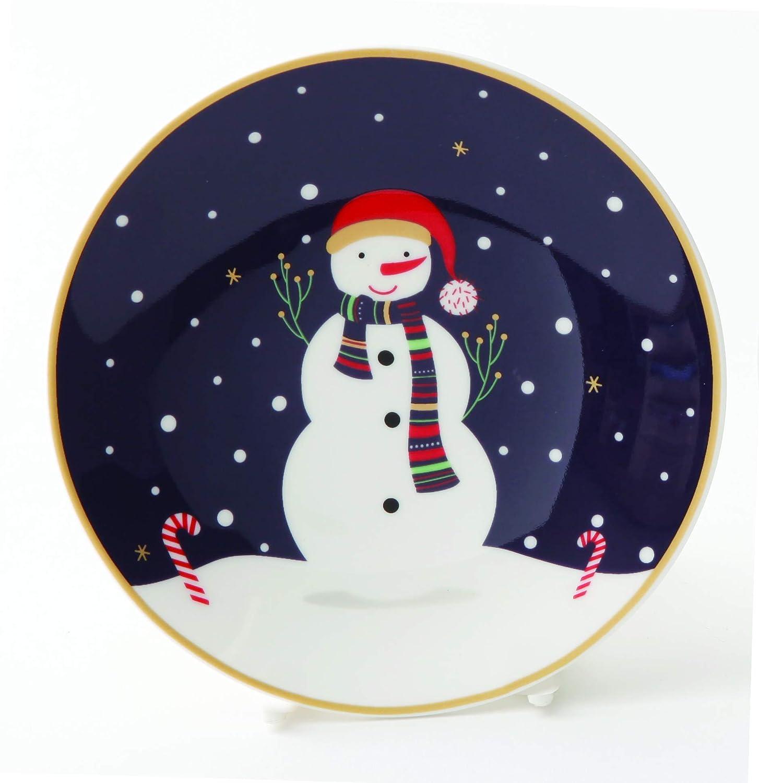 ZEN Let it snow 5 3//4 Plate Set 2 piece