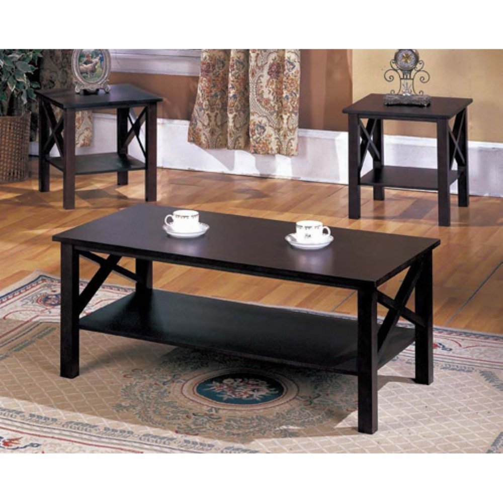 Amazon 3 piece coffee table set kitchen dining geotapseo Gallery