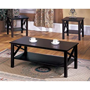 Amazoncom 3 Piece Coffee Table Set KitchenDining