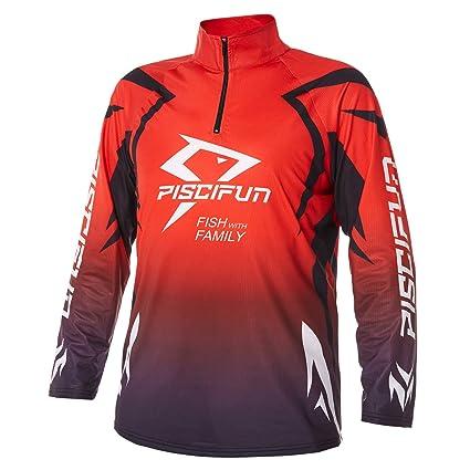 cccf9e8d Piscifun Performance UPF Long Sleeve Fishing T-Shirt-Sun Protection Clothing  Fishing Jersey M L XL 2XL 3XL