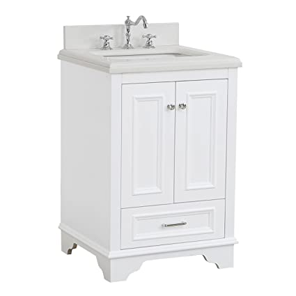 Nantucket 24 Inch Bathroom Vanity Quartzwhite Includes White
