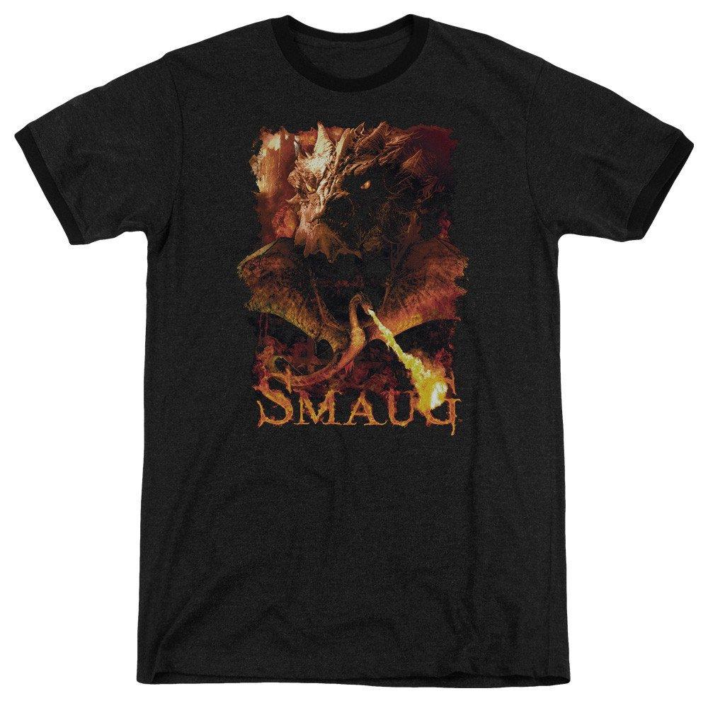 Shirt S Sons of Gotham Hobbit Smolder Adult Ringer T