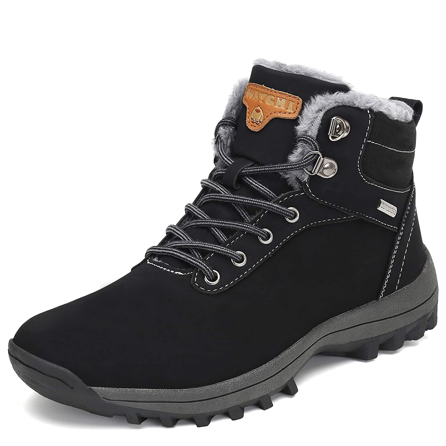 149a3fce82a Pastaza Men Women Snow Boots Winter Warm Ankle Boots Faux Fur Lined  Anti-Slip Waterproof Boots Outdoor Hiking Work Shoes