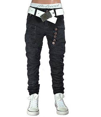 süß bester Großhändler verfügbar ST-012 Squared & Cubed Jeans Hose Junge Kinder schwarz 104-170