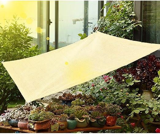 GuoWei- Velas de sombra Solar Obstruido Malla Neto Transpirable con Ojales para Cubrir Jardin Plantas Pérgola Al Aire Libre Personalizable (Color : Beige, Size : 90% Sun block-8x8m): Amazon.es: Jardín