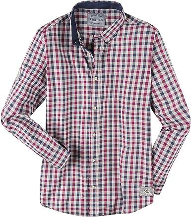 Redfield Camisa roja-Azul-Gris a Cuadros en Talla XXL, 2xl-8xl:6XL: Amazon.es: Ropa y accesorios