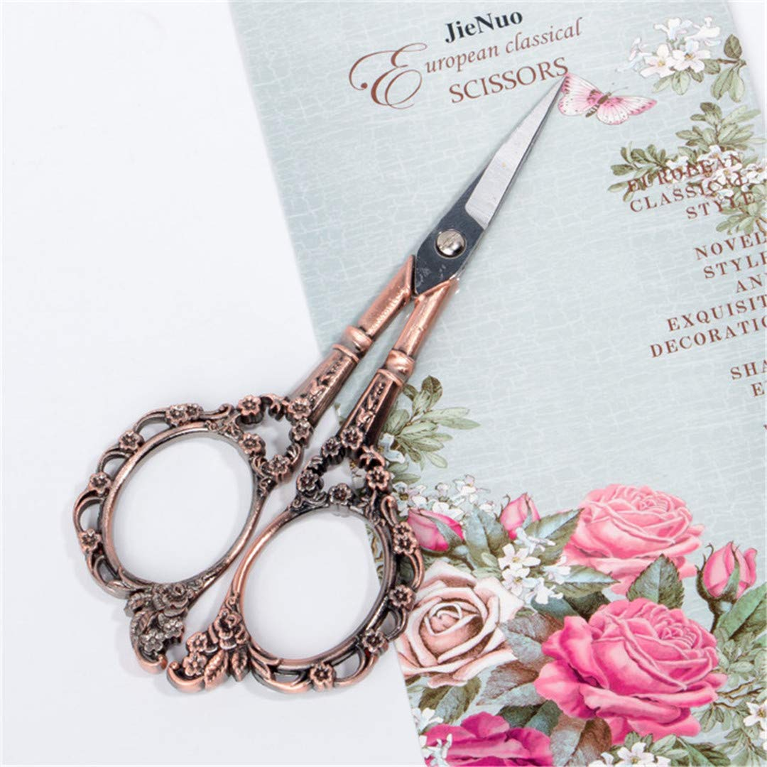 Professional Stainless Steel Eyebrow Scissor Makeup Trimmer Facial Hair Remover Scissor Cutter Nail Tool Bronze Gold