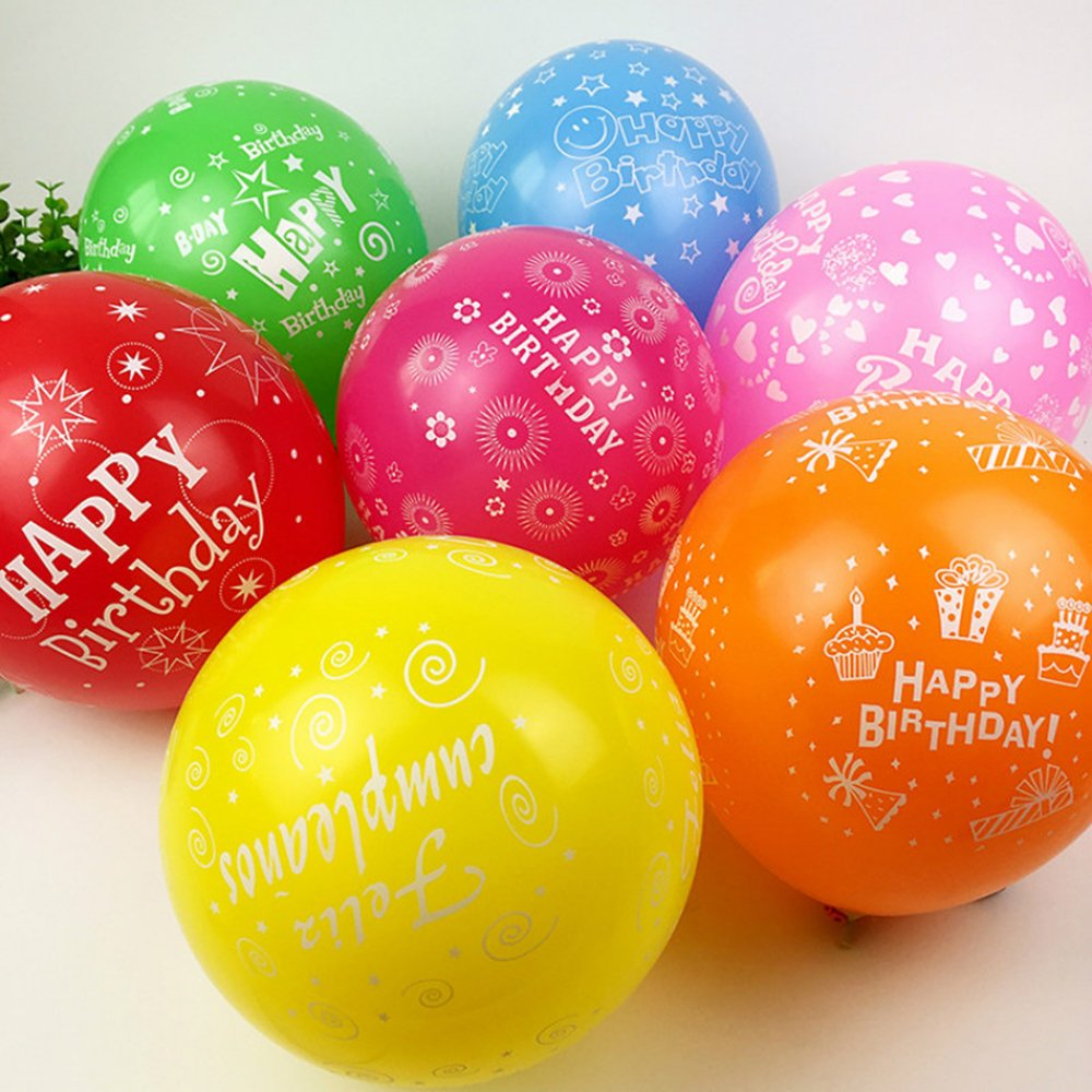 50 30,5 cm Latex Multicolor Luftballons Happy Birthday Party Party Ballon aufblasbar Dekoration GLOBOS Air Kugeln Baloons 12inch multi