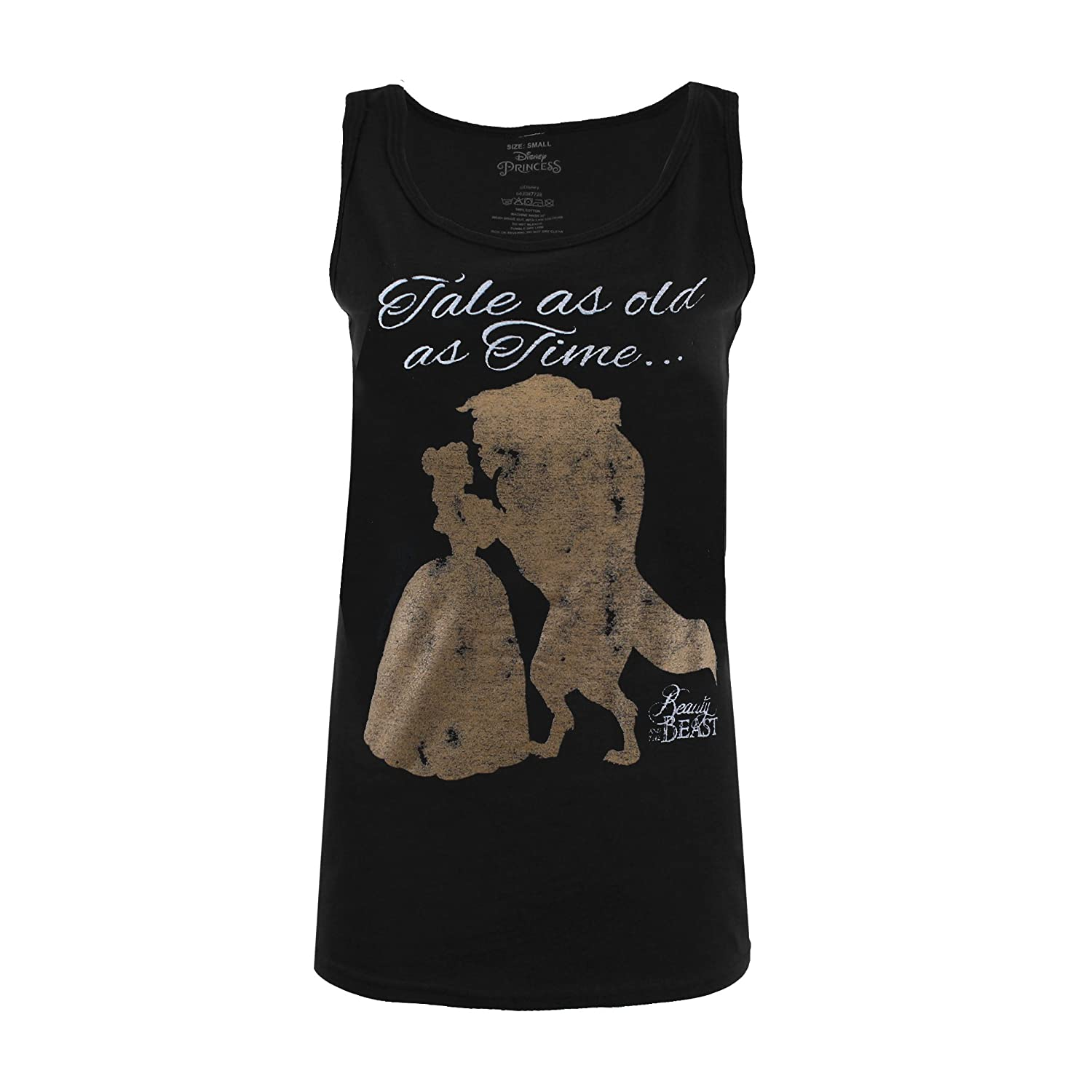 Disney Beauty and The Beast Ladies Tale As Old As Time Vest Top