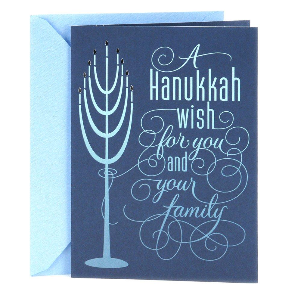 Amazon Hallmark Tree Of Life Hanukkah Card For A Family Blue