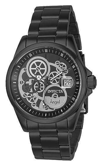 Invicta 23570 Angel Reloj para Mujer acero inoxidable Cuarzo Esfera negro   Amazon.es  Relojes 1f9ccedddb39